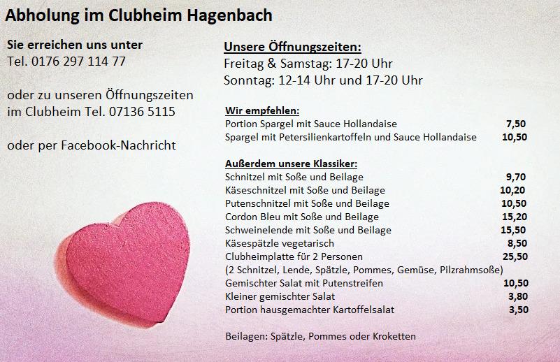 Angebot Clubheim Hagenbach